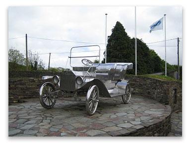 Model-T Ford monument, Ballinascarty, Co Cork, Ireland