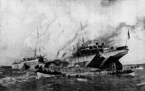 The sinking, from the official site