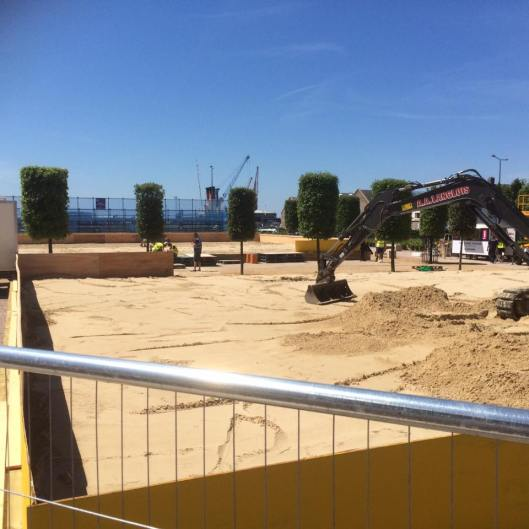 Beach volleyball in town