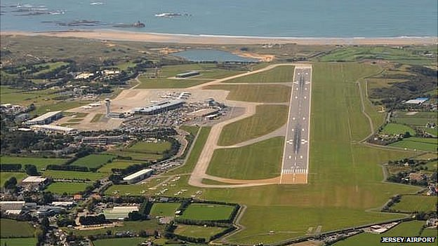 Jersey Airport aerial view